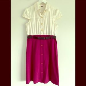 Theory dress with elastic belt